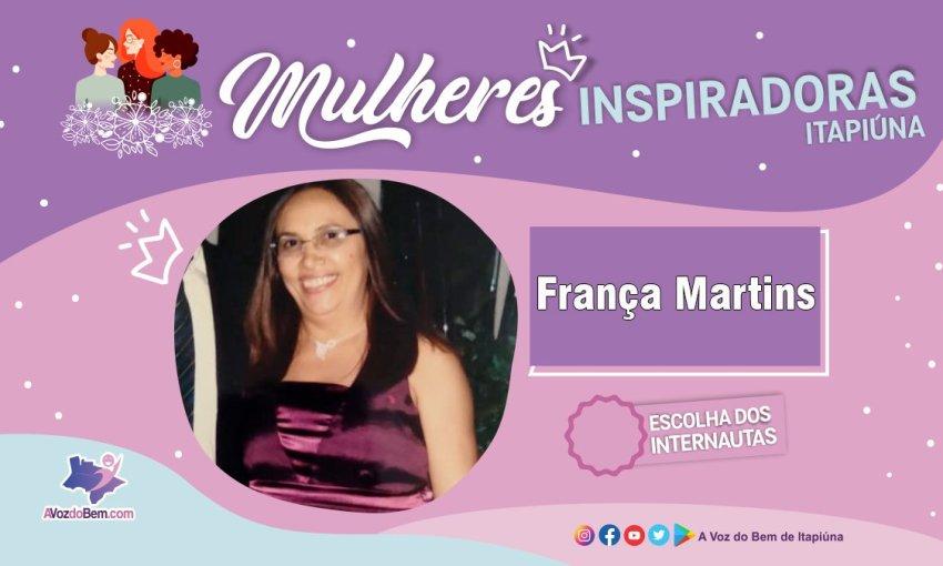 """França Martins é destaque no quadro """"Mulheres Inspiradoras de Itapiúna"""""""