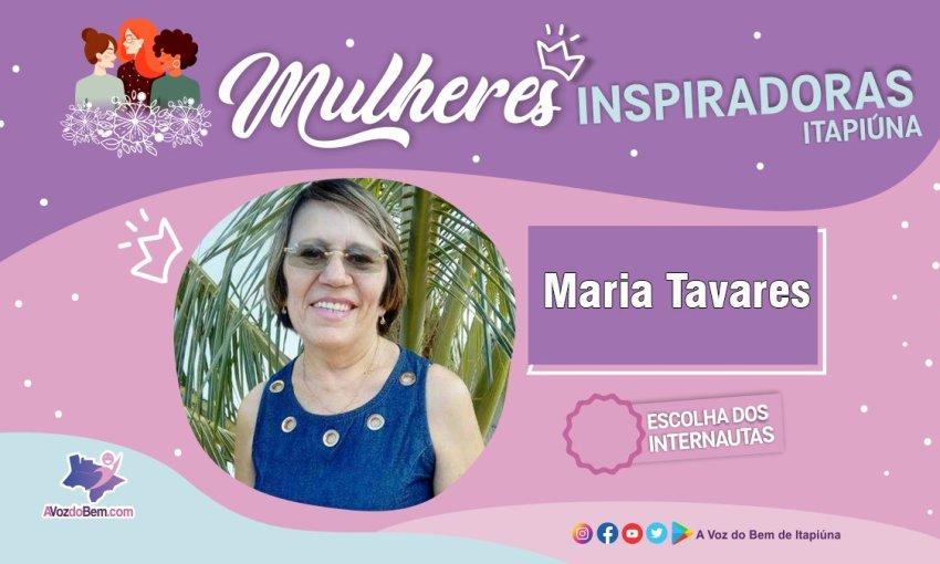 """Maria Tavares é destaque no quadro """"Mulheres Inspiradoras de Itapiúna"""""""