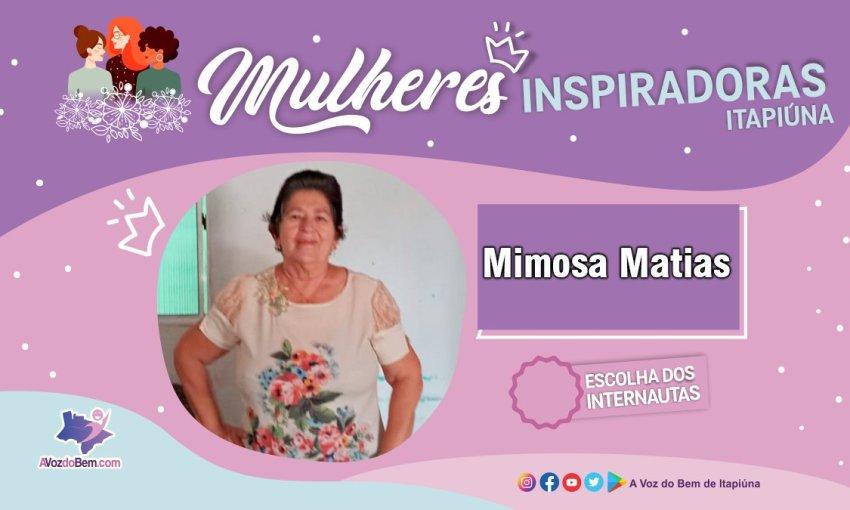 """Mimosa Matias é destaque no quadro """"Mulheres Inspiradoras de Itapiúna"""""""