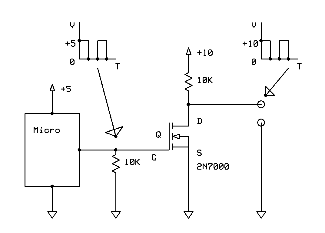 Digitally Controlled Voltage Divider Two Power Sources