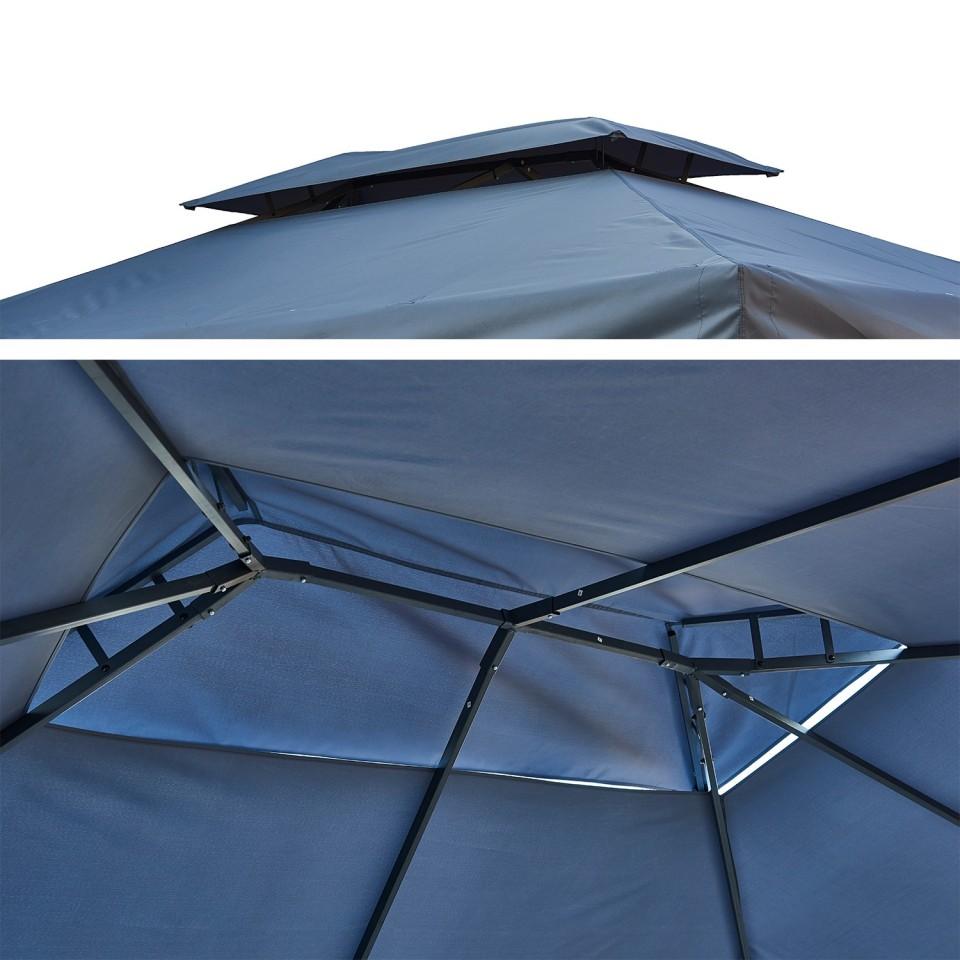 tonnelle pergola aluminium 3x4m rideaux