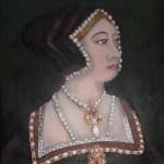 SMall portrait of Anne Boleyn based on existing portrait