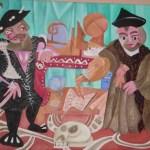 Painting of the holbein ambassadors, sylised