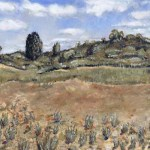 My painting of dunes at wyperfeld national park
