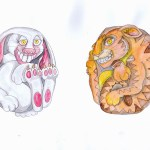 Chinese zodiac animals in watercolour and ink