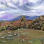 Painting showing mount dandenong in the distance