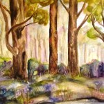 small landscape painting of forest in mount dandenong, victoria