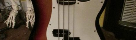 I found a really cool strap with printed mummies for my fender bass
