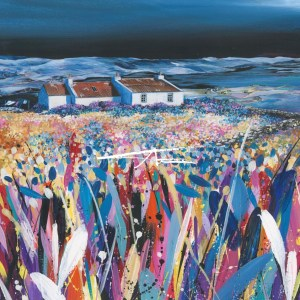 Shetland Croft House painting Weisday Avril Thomson Smith