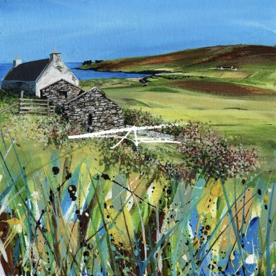 Norwick Unst Avril Thomson Smith croft house painting