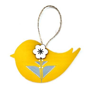 Yellow scandi bird