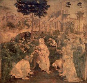 The Adoration of the Magi by Leonardo da Vinci