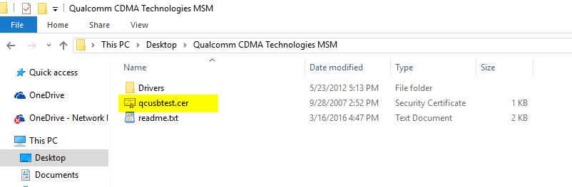 Qualcomm CDMA Technologies MSM Folder