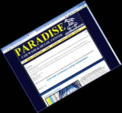Paradise Car Wash Local Business Website