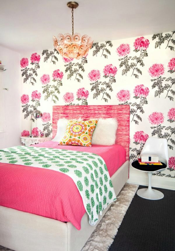 Fabric And Wallpaper With Floral Design Great Interior Ideas For Your Home Interior Design