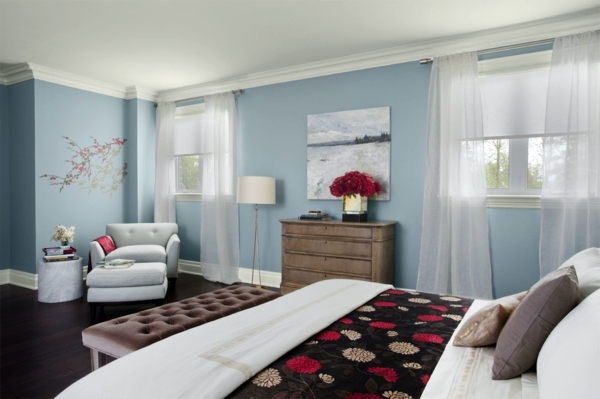 Powder Blue Wall Paint Water Colored Interior Interior