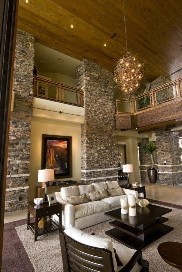 Receive The Natural Home Natural Stone Wall In The