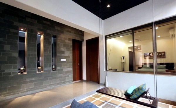 Modern House With Natural Stone Walls And Chic Dcor