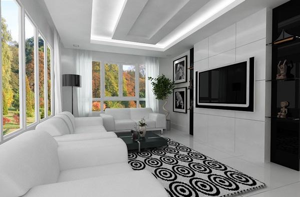 21 gorgeous modern, minimalist living room design ...