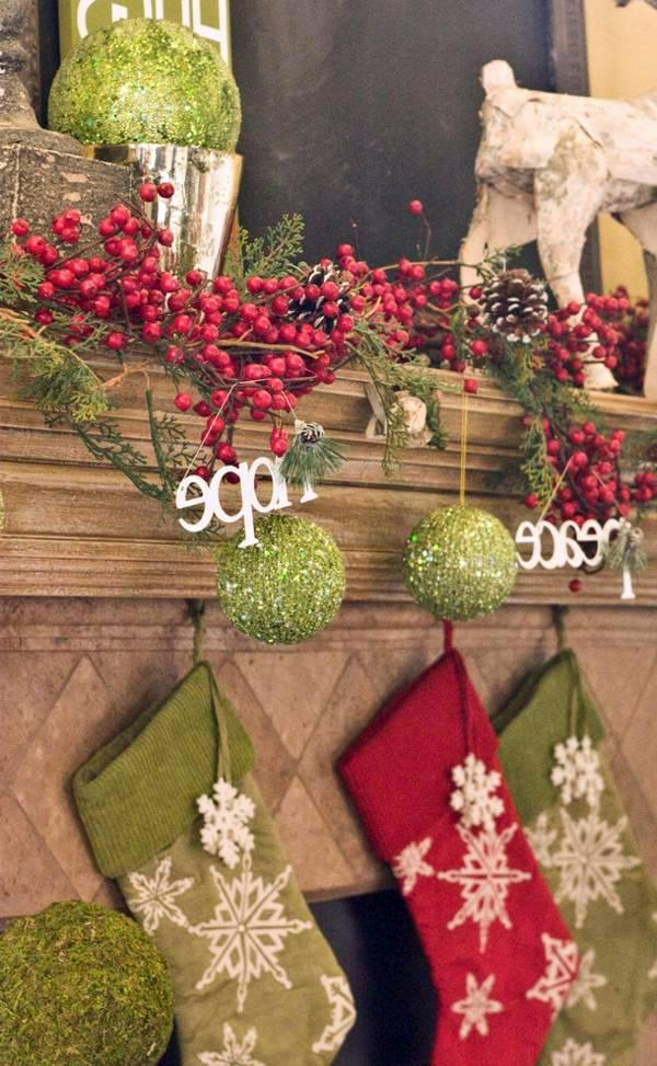 purple and lime green christmas tree balls