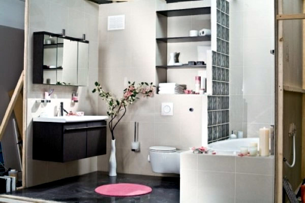 Small Decorate Bathroom How Walls