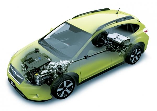 Hibridizacija je eden največjih »odvisnikov« od inovacij. Na sliki je Subaru XV Crosstrek Hybrid, prvi Subarijev hibrid in prvi hibrid z bokserskim motorjem.