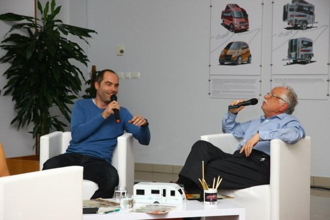 Robert Lešnik (dizajner pri Daimlerju) in Georg Gedl: ne le kolege, tudi dobra prijatelja.