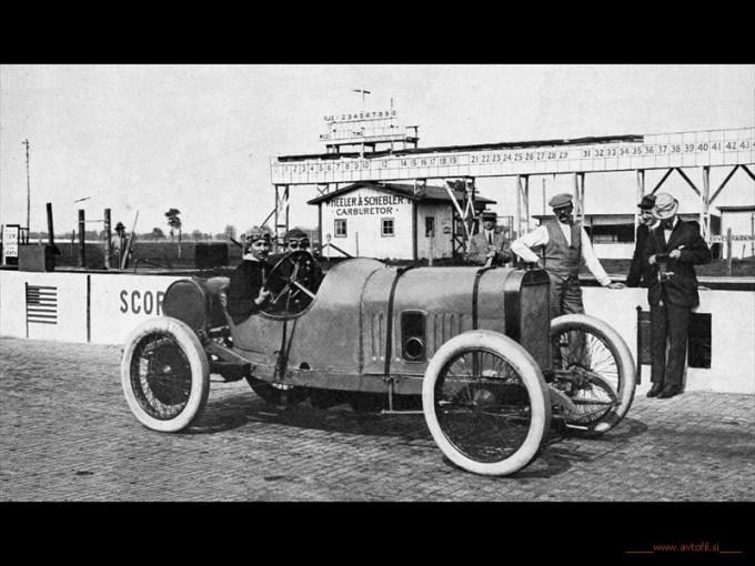 Jules Goux Indianapolis 500 start 1913