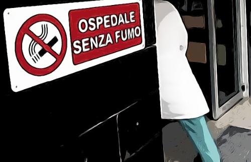 Fumavano in ospedale: due sanzionati