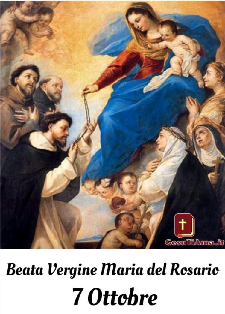 Beata Vergine Maria del Rosario ,la Santa del 7 ottobre