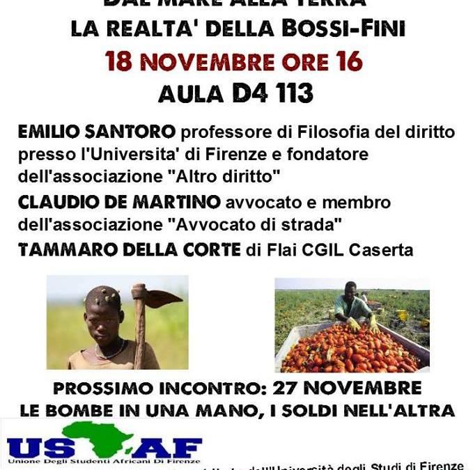 18.11.13 Diritti e lavoro nero. Incontro pubblico all'Università di Firenze