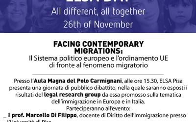 "26.11.14 A Pisa la Conferenza ""Facing Contemporary Migrations"""