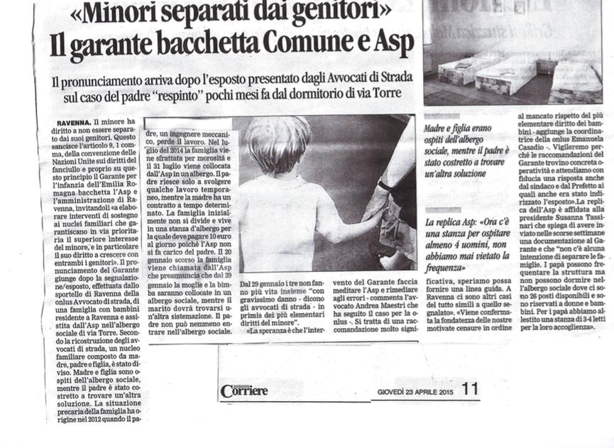 """Ravenna: """"I minori non devono essere divisi dai genitori. Il Garante bacchetta Comune e ASP"""""""