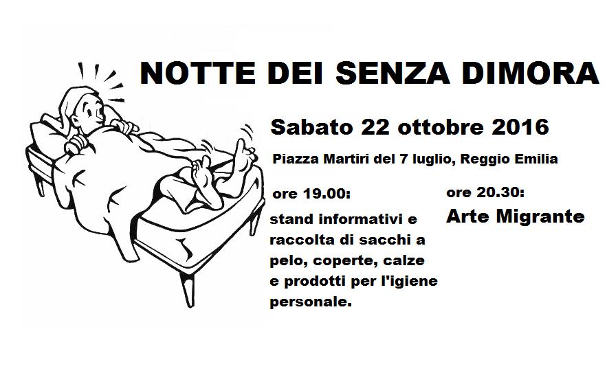 Notte senza dimora Reggio Emilia