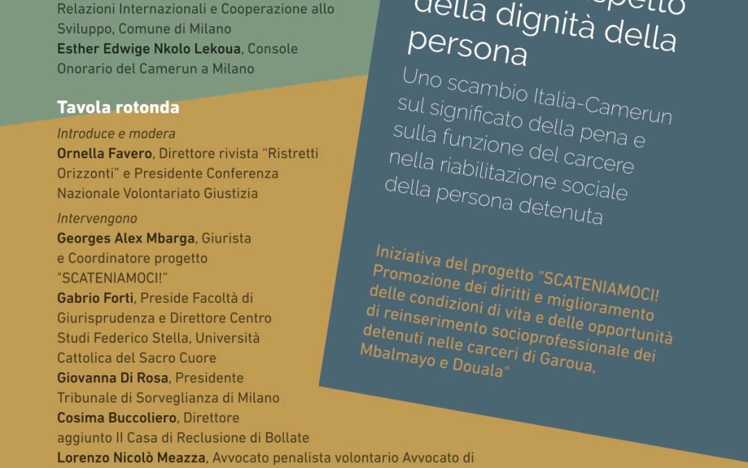 16.01.18, Milano. Uno scambio Italia-Camerun sul significato della pena e sulla funzione del carcere
