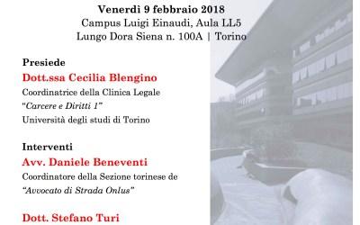 """Torino, clinica legale: """"Promuovere l'accesso ai diritti delle persone senza dimora""""."""