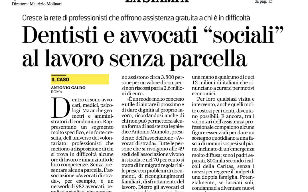 """Avvocati """"sociali"""" su La Stampa"""
