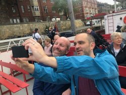 Brendan and Dave on York cruise