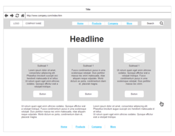Page Layout wireframe