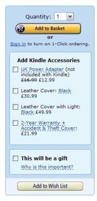 Amazon Add to basket image