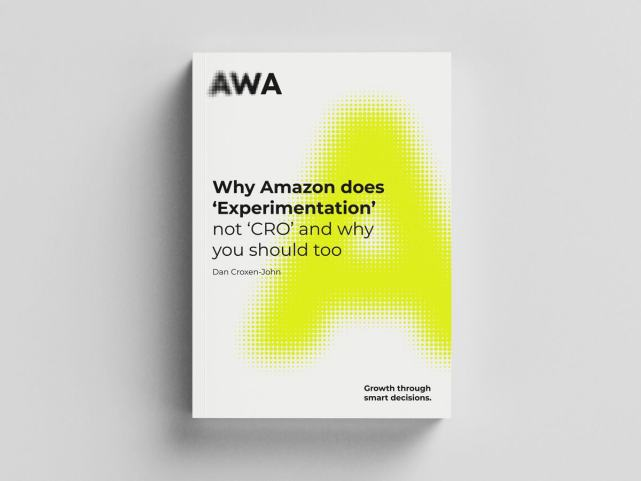 Why Amazon does 'Experimentation' not 'CRO' and why you should too