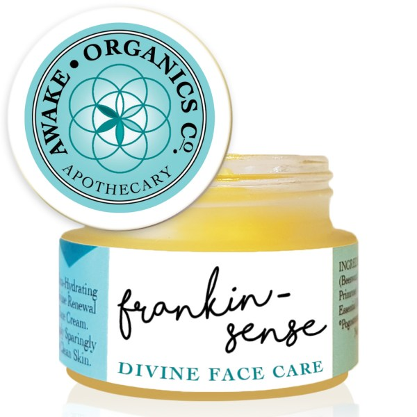 Frankin-Sense Rejuvenating Organic Face Cream. Made with natural anti anxiety, antidepressant essential oils. Anti-ageing moisturiser, for younger looking Skin. Pure and natural. Made with Babassu Kernel, Frankincense, Cannabis (Hemp), Seabuckthorn, Rosehip, Camellia Tea, Carrot Seed. Consciously Made in England.