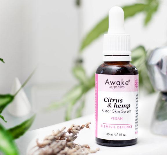 citrus | hemp | natural vegan face serum | UK | cruelty free | paraben free | blemish prone | oil skin | adult acne | awake organics | natural skin care brand UK | lifestyle2 image
