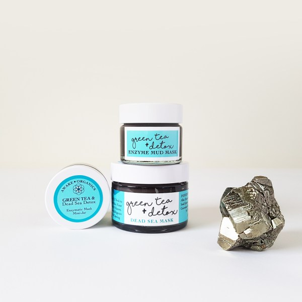 Mini & Full Size Enzyme, Green Tea + Detox, Dead Sea Mud Mask + Cleanser. Organic Mask, Anti-ageing mask, cleansing mask, green tea mask. Pure and natural. Made with Green Tea, Bentonite Clay, Grape Seed, Frankincense, Cannabis (Hemp), Carrot Seed. Consciously Made in England.