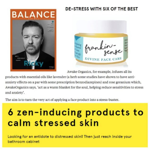 As Seen in Balance Magazine, Psychologies Magazine, You Magazine. Vegetarian Living, Daily Mail, Pebble Magazine, You Beauty Box. Best of British. Aura Clean Deodorant. Natural Deodorant That Works. Organic. By Awake Organics. Press. New. YouMagSocial. Daily Mail Online. Sunday Mail, Red Online, The Green Parent. Winner 2017 Natural Beauty Awards.