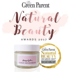 Aura Clean Deodorant. Award Winning Natural Deodorant That Works. Organic. Aluminium Free. Green Parent Magazine Natural Beauty Awards 2017 Editor's Pick Winner. By Awake Organics.