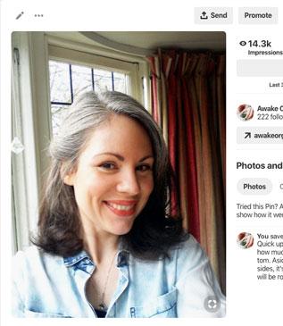 Growing Out Grey Hair Naturally | Awake Organics | Natural Skin Care | UK Beauty Brand | Pinterest image