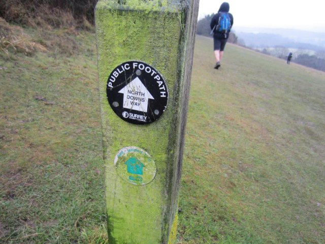 Follow the signs for the North Downs Way