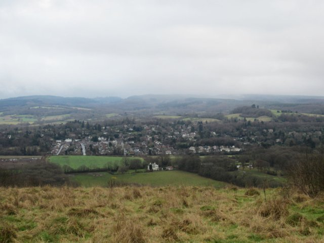 Looking down to Dorking