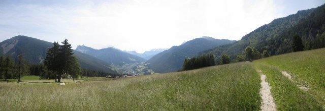 The view right before climbing Mount Bulacia/Puflatsch